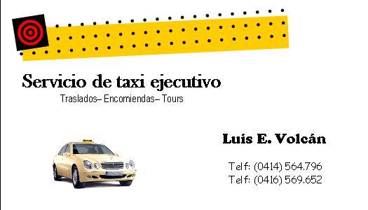 Tarjeta de presentacion taxi ejecutivo